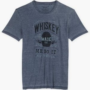 Lucky Brand Whiskey Made Me Do It T-shirt Large